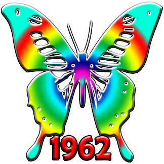 50th Birthday Gifts, 1962 Butterfly!