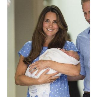 Kate Middleton Holding Newborn Son