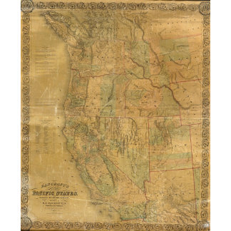 Bancroft's Map Of The Pacific States