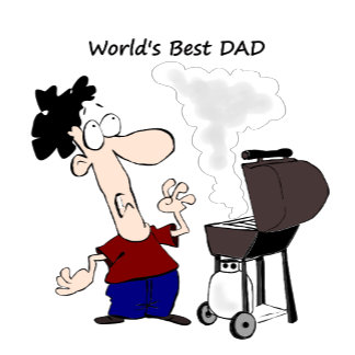 BBQ DAD cartoon