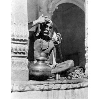 Brahman Priest Painting Forehead