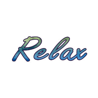 Relax cloud green blue outlined