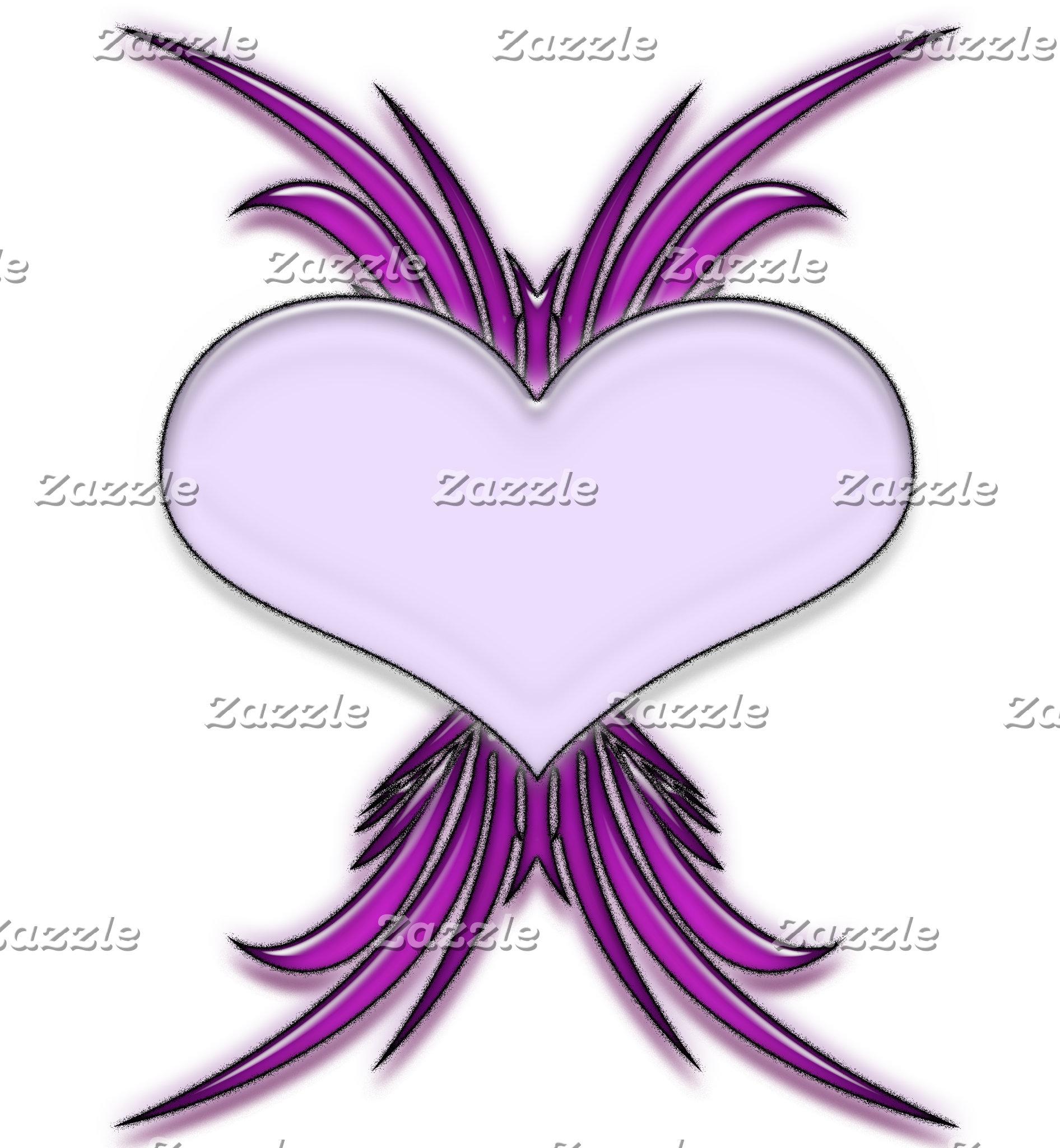 Gloss Heart - Purple/Grey