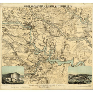 Hughes Military Map Of Richmond and Petersburgh