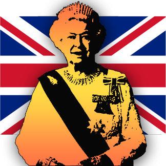 Pop Art Queen with Union Jack
