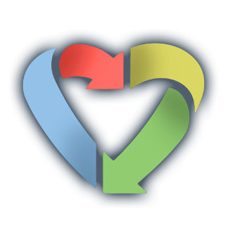 Recycle Heart -Color