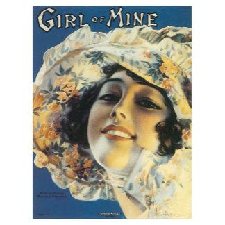Girl Of Mine - Vintage Song Sheet Music Art