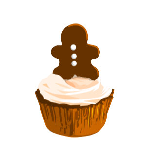 Gingerbread cupcake template products
