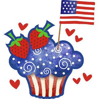 American Pride Cupcake