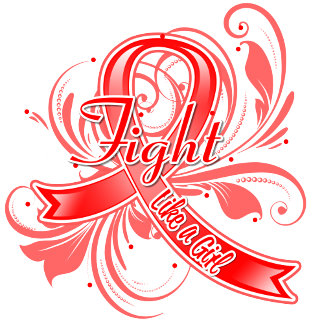 Blood Cancer Fight Like a Girl Flourish