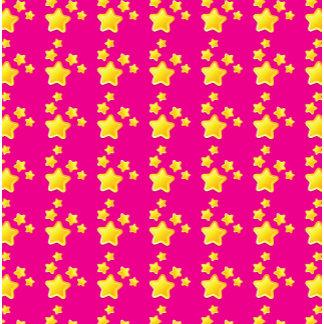 Cute stars on pink pattern