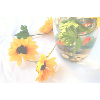 Goldfish centerpiece, faded version, sunflowers