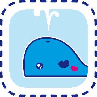 Kawaii whale