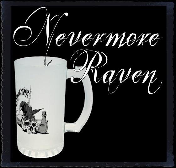 Poe Nevermore Raven Skull & Book