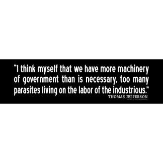 Jefferson: I think myself that we have more machin