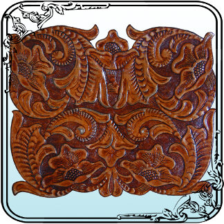Tooled Leather-look Pattern