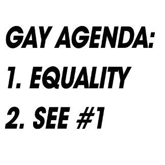 GAY AGENDA - EQUALITY