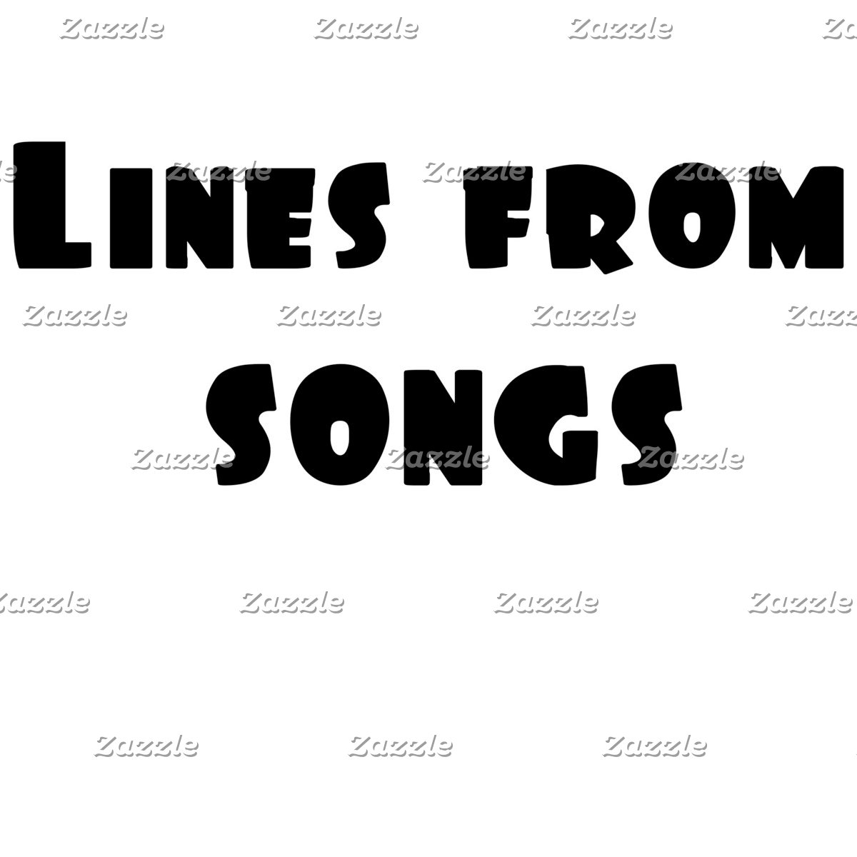 Lines from Songs