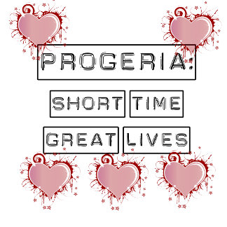 Progeria, with red hearts