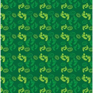 Green OGRE feet cute pattern