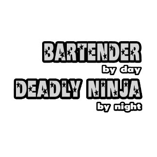 Bartender By Day ... Deadly Ninja By Night