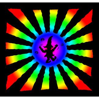 Dancing Elf with  Rainbow Sun Rays -