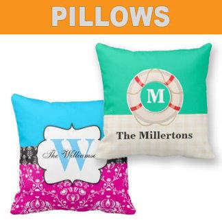 Pillows - Monogram & Customizable Throw Pillows