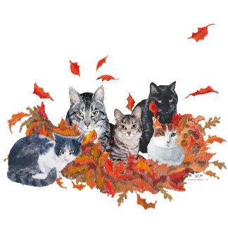 Cats in Autumn