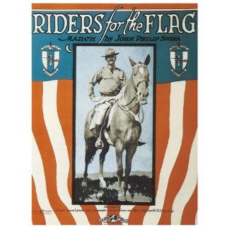 Riders for the Flag - Vintage Song Sheet Music Art