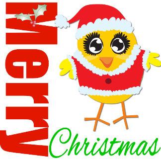 Merry Christmas Santa Chick