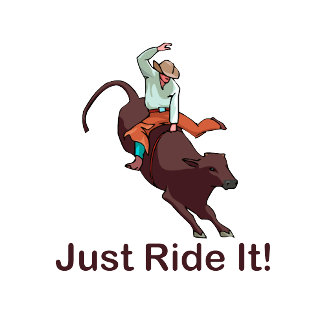 Just Ride It Cowboy and Bull