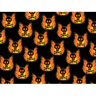 Flaming Skulls Pattern