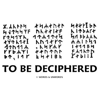 To Be Deciphered (Jules Verne Runic Cryptogram)