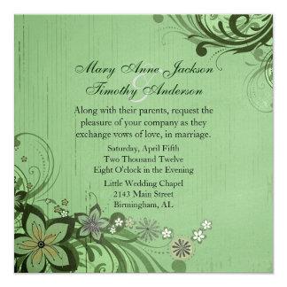Rustic Green Floral Flourish Wedding Products