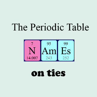 Periodic table ties
