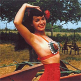 Bettie Page in Matador Pants Vintage Color Pinup