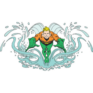 Aquaman Lunging Forward