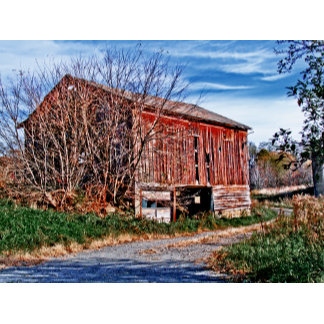Red Barn. Blue Sky.