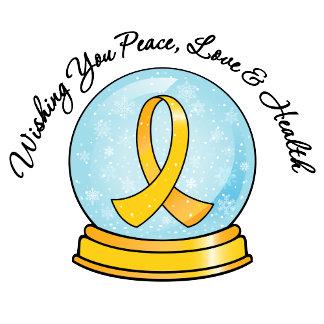 Childhood Cancer Ribbon Merry Christmas Snowglobe