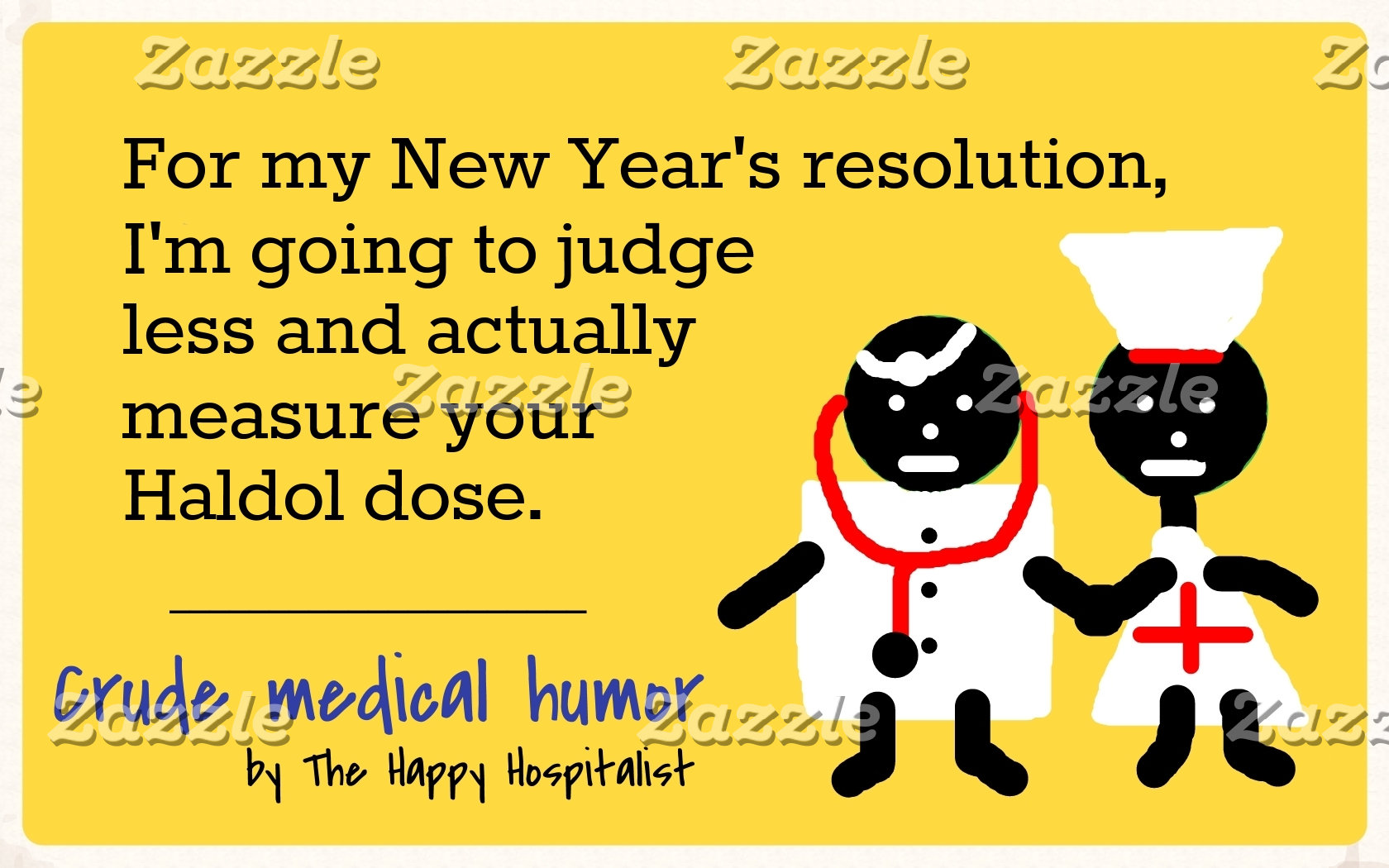 For my New Year's resolution, I'm going to judge..