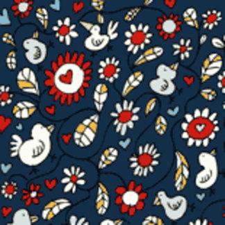 Blue Love Bird Flowers