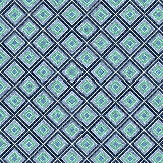 Blue and Green Geometric Abstract 3