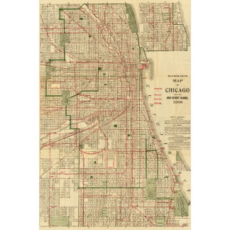 Blanchard's map of Chicago