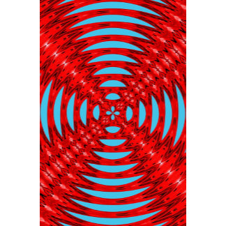 Soundwaves Abstract Pattern Red and Blue