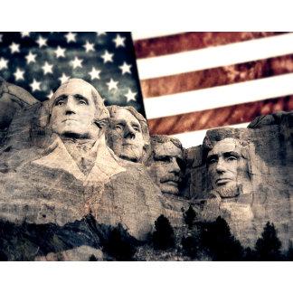 Patriotic Mount Rushmore