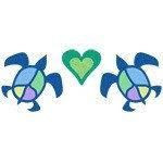 Peace Sea Turtle Hearts