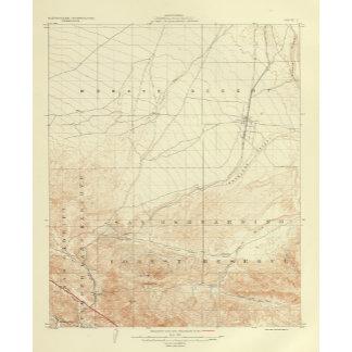 Hesperia quadrangle showing San Andreas Rift