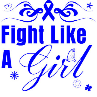 Colon Cancer Fight Like A Girl Ornate