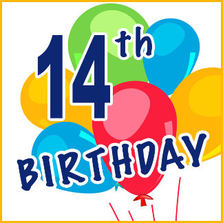 14th Birthday T-shirts, Gifts and Party Favors