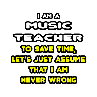 Funny Music Teacher T-Shirts and Gifts